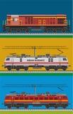 Indisk järnväg motor vektor illustrationer