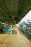 Indisk järnväg plattform Fotografering för Bildbyråer