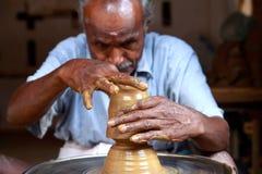 indisk keramikerby Arkivfoto