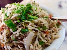 Indisk kinesisk mat Arkivfoto