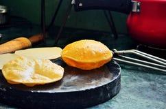 Indisk kokkonst Puri Arkivbilder