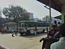 Indisk kollektivtrafik Arkivfoton