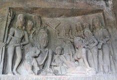 Indisk konst på väggarna Arkivfoto