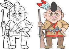 Indisk krigare, rolig bild royaltyfri illustrationer
