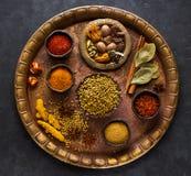Indisk kryddor, kryddigt och smaktillsats Royaltyfria Foton