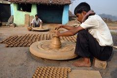indisk kumhaar tillverkarekrukmakeri Fotografering för Bildbyråer