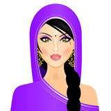 indisk kvinna vektor illustrationer