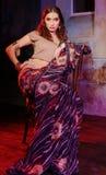 indisk kvinna Arkivbild