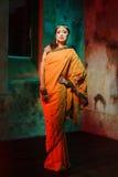 indisk kvinna Fotografering för Bildbyråer