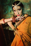 indisk kvinna Arkivfoto