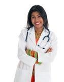 Indisk kvinnlig doktor royaltyfria foton