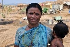 indisk lantlig kvinna arkivbilder
