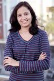 indisk le kvinna arkivbild