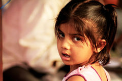 Indisk liten flicka Arkivfoto