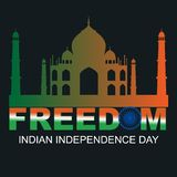 Indisk mahal självständighetsdagenfrihetstaj royaltyfri illustrationer
