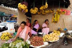 indisk marknad Arkivfoto