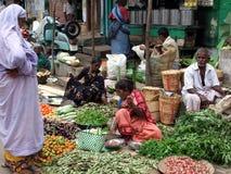 Indisk marknad efter Tsunmai 2004 Arkivbild