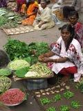 Indisk marknad efter Tsunmai 2004 Arkivbilder