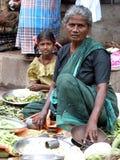 Indisk marknad efter Tsunmai 2004 Arkivfoton
