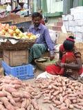 Indisk marknad efter Tsunmai 2004 Fotografering för Bildbyråer