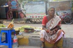 indisk marknadsgata Royaltyfria Bilder