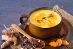 Indisk masala chai med kryddor Arkivbild