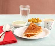 Indisk mat Masala Dosa Fotografering för Bildbyråer