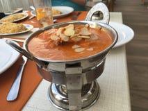 Indisk mat på restaurangen Arkivfoto