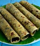 Indisk mat-Thepla Fotografering för Bildbyråer