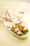 Indisk maträtt Kathi Kebab Arkivfoton