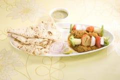 Indisk maträtt Kathi Kebab Royaltyfria Bilder
