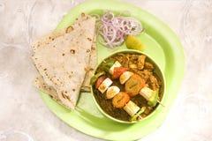 Indisk maträtt Kathi Kebab eller blandningMasla maträtt av soja Royaltyfria Bilder