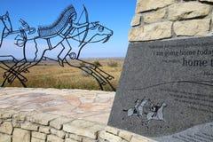 Indisk minnesmärke på den nationella monumentet för Little Bighornslagfält, Fotografering för Bildbyråer