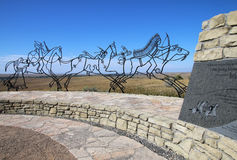Indisk minnesmärke på den nationella monumentet för Little Bighornslagfält, Arkivfoton