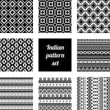 Indisk modelluppsättning Stock Illustrationer