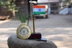 indisk national för flagga arkivfoton