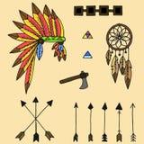 Indisk och mexikansk mall för design vektor illustrationer