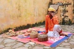 Indisk ormcharmör Fotografering för Bildbyråer