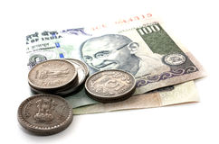 indisk pengarrupee Royaltyfri Bild