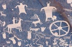 indisk petroglyph royaltyfri bild