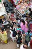 indisk platsgata för mat Arkivfoton