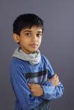 indisk pojke little stående royaltyfri bild