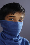 indisk pojke little stående royaltyfria bilder