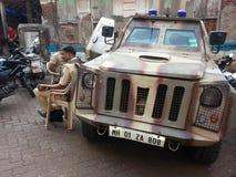 Indisk polisstyrka Royaltyfri Foto