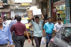 Indisk portvakt i Kolkata, Indien Arkivfoto