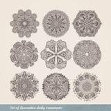 Indisk prydnad för vektor, kalejdoskopisk blom- modell, mandala S stock illustrationer