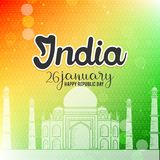 Indisk republikdag26th Januari bakgrund stock illustrationer