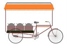 Indisk rickshaw vektor illustrationer