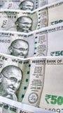 Indisk Rs för valuta 500 anmärkning Arkivbild