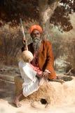 indisk sadhu Arkivfoto